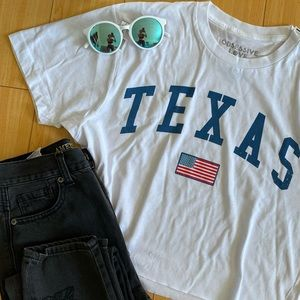 TEXAS cropped oversized vintage style tee